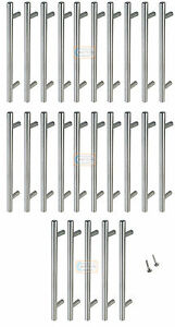 100 x 160mm Solid T BAR Handles Nickel Kitchen Cabinet Door Cupboard Drawer