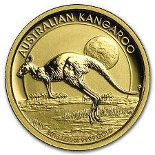 Australia 1/10 oz Gold Kangaroo/Nugget BU (Random Year) - SKU #22944