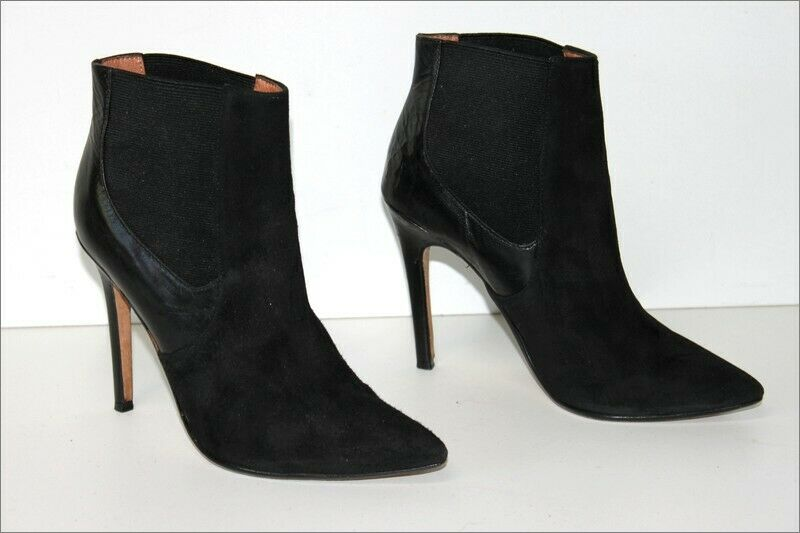 COSMOPARIS Boots to UPS Heels Suede and leather T 38 VERY GOOD CONDITION