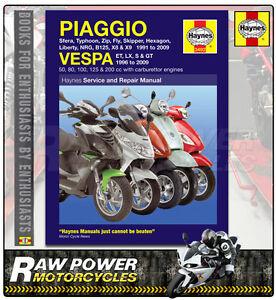 piaggio vespa skipper 125 st 01 04 haynes manual 3492 ebay rh ebay com Piaggio Vespa LX 125 Piaggio Typhoon 125 Accessories