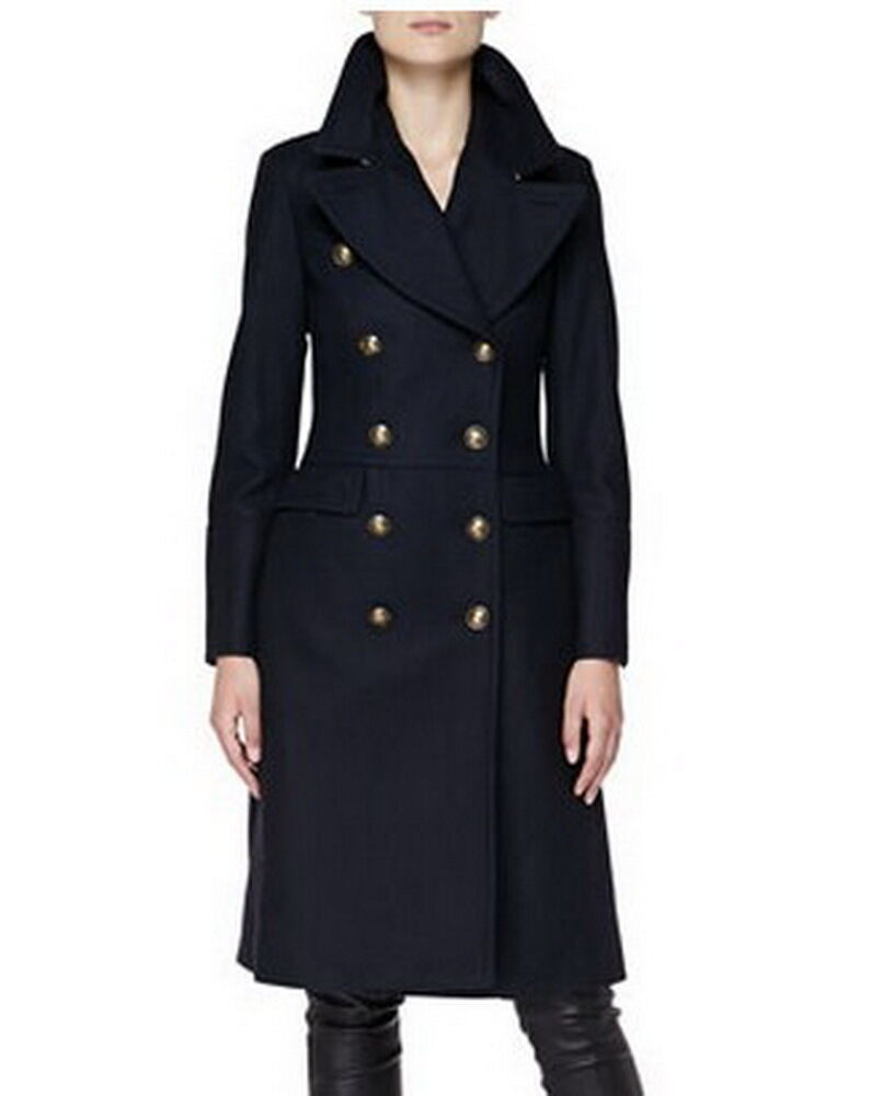 Double-Breasted Military A-line wool blend Coat JY007 Plus 1x-10x (SZ 16-52)