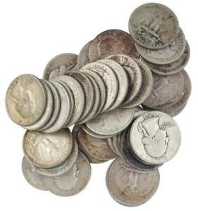 90-Silver-Washington-Quarters-1932-1964-Choose-How-Many