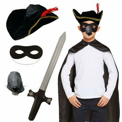 Childs Official Highway Rat Fancy Dress Highwayman Costume World Book Day Kids