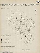 Provincia di Massa eCarrara: Tutti i Comuni nel 1938. Anno XVI Era Fascista.1938