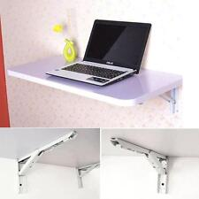 Durable White Wall Mount Floating Folding Computer Desk Home Office PC Table