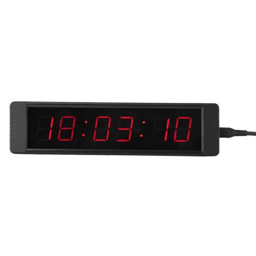 Horloge Murale à LED Affiche L/'heure du Jour avec 24 Heures 2 Piles AAA GI6T-1R