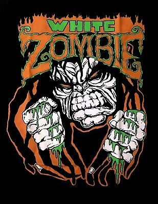WHITE ZOMBIE cd lgo LUGOSI Official Black SHIRT Size MED New rob zombie