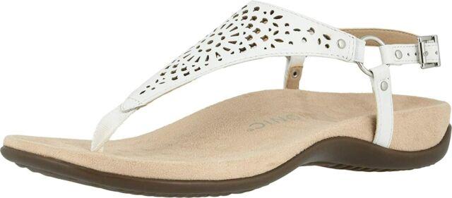 Vionic Kirra Leather T Strap Sandals