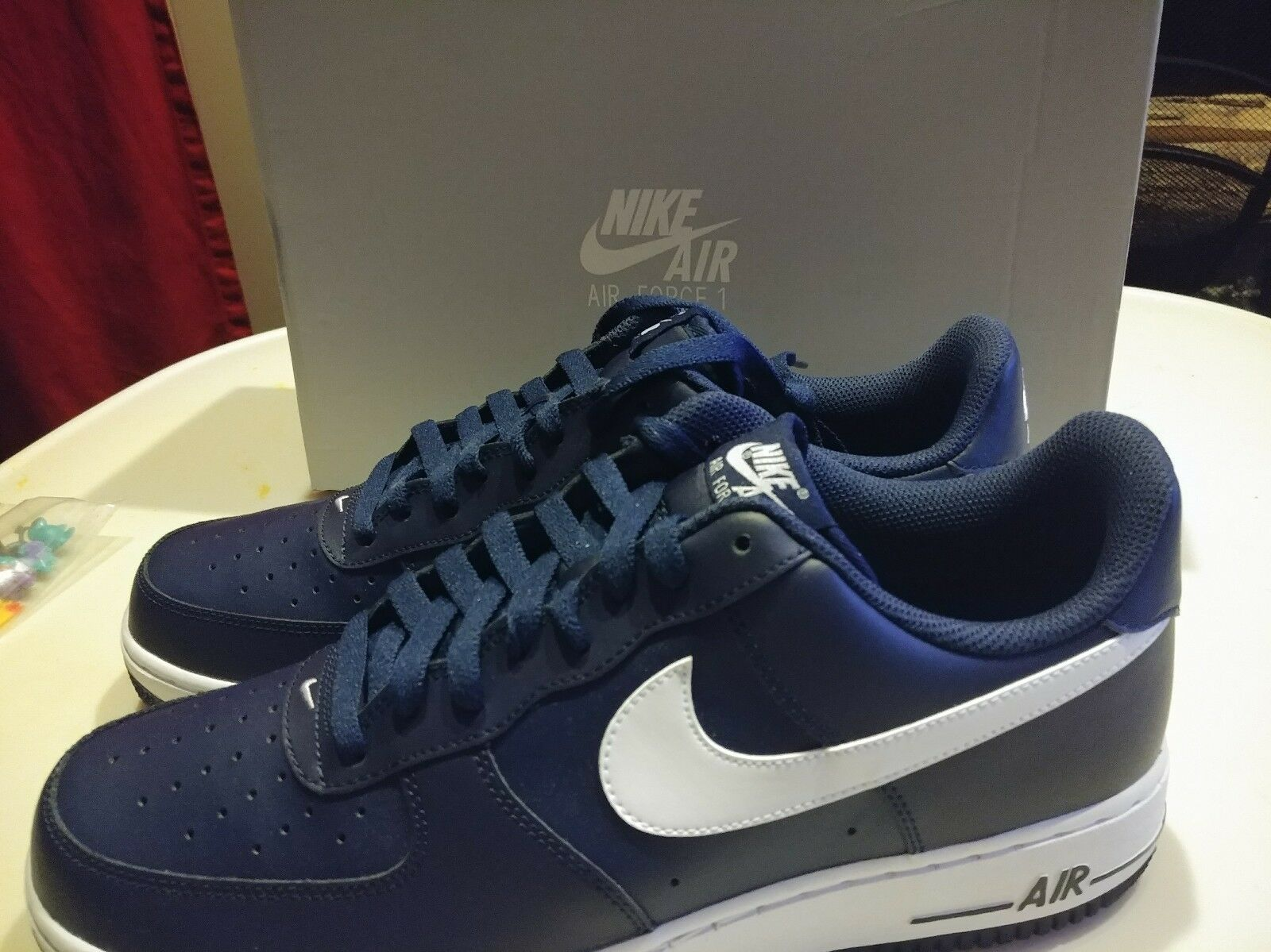 New in box Nike Air Force 1 one  488298 436 Midnight Navy/White  Comfortable