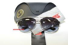 Ray Ban 3386 003 8G  67 Damen Metall silber schwarz Sonnenbrille Original Neu