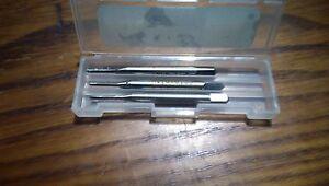 3 pcs Osborn HSS Hand Taps M 2.2 x 0.45. RH Taper Intermediate Bottom /Plug