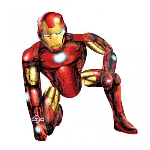"Iron Man 46/"" Airwalker Foil Balloon Boys Birthday Gift or Party Decoration"