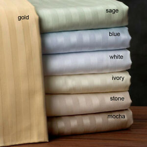 Australian-Striped-3-pc-Bed-Fitted-Sheet-Set-1000TC-Egyptian-Cotton-Select-Size