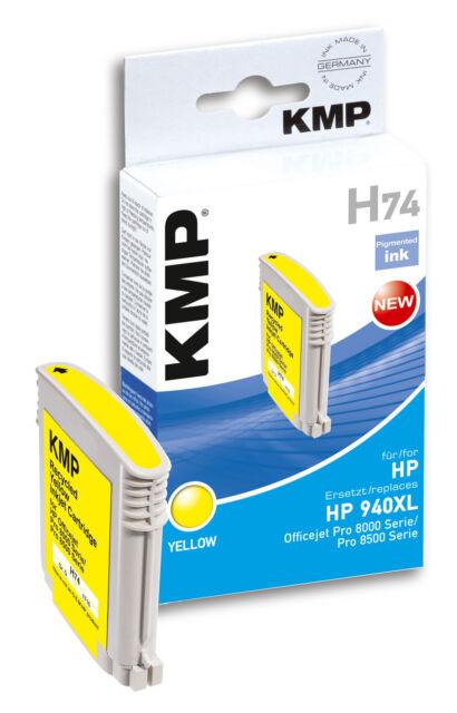 KMP Patrone H74 für HP 940 XL C4609AE Officejet Pro 8000 Serie 8500 Serie yellow