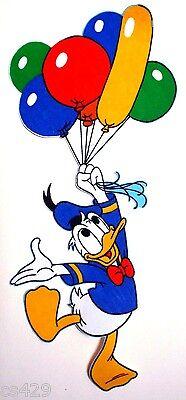 "17.5/"" Disney donald duck balloon fabric applique iron on character"