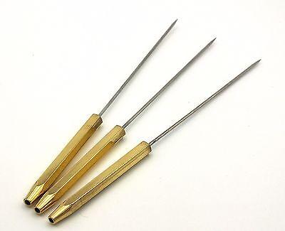 """FF173 Set of 2 Stainless Steel 5.25/"""" Bodkin // Dubbing Needle"""