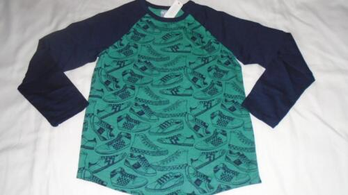 NEW Boys Size 5-6 Gymboree Shirt w// Sneakers Pattern Long Sleeve 2018 Line NWT