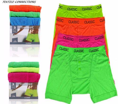 6-12 Pairs Men/'s Boxer Shorts Underwear Trunks Designer Neon Colour lot S M L XL