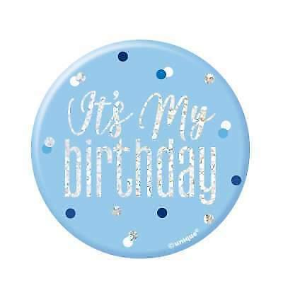 "Blue /& Silver It/'s My Birthday 3/"" Badge"