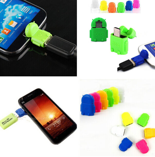 Fun Robot Micro USB To USB 2.0 OTG Adapter Converter For Android Phone Tablet TR