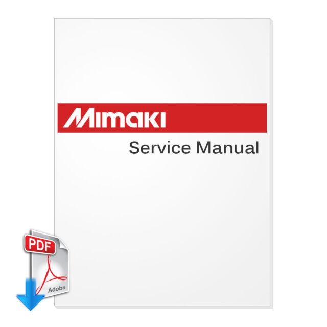 Mimaki jv33-130, jv33-160 maintenace manual service manuals.