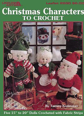 Crochet Pattern Christmas Toilet Roll Holder Snowman Santa Elf Hat Reindeer 9082
