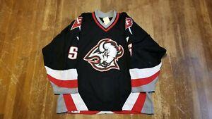 Jason Woolley Buffalo Sabres Jersey Game Worn 01-02 Goat Head NHL sz 56