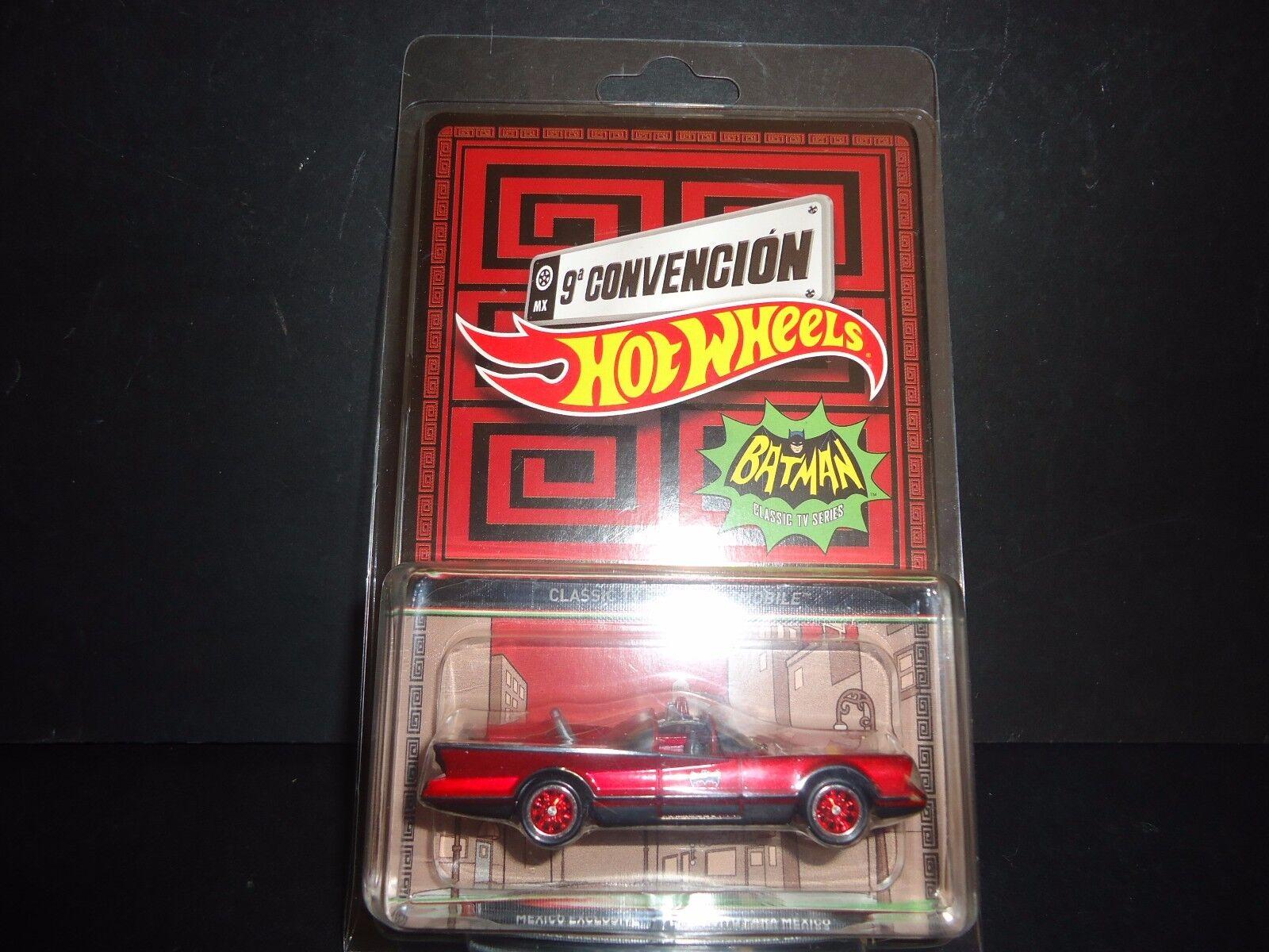 Hot Wheels Batmobile 1966 Série Tv 2016 Mexique Convention Convention Convention 1 64 Rare 8227a4