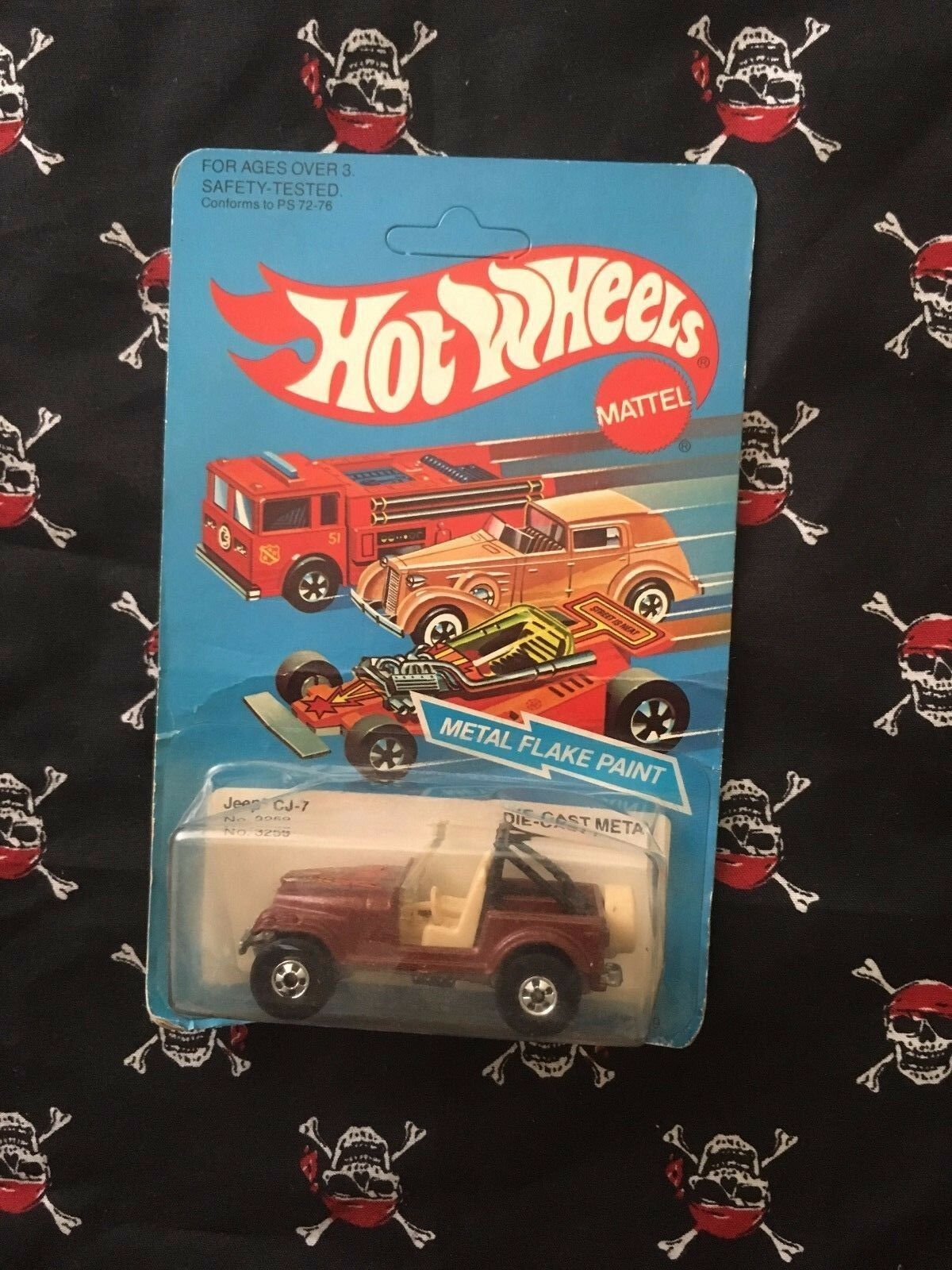 1982 Hot Wheels Jeep CJ-7 No. 3259 braun unpunched card