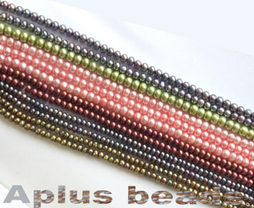 16in Freshwater Pearl Rondelle beads various sizes and colors SALE