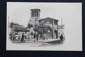 Tarjeta-Postal-Antigua-CPA-Animada-st-Etienne-Grande-039-Iglesia