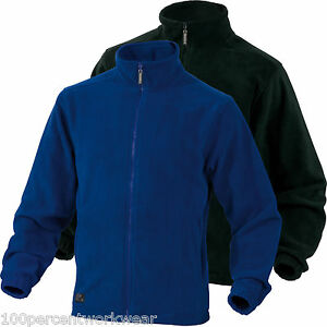Delta Plus Panoply VERNON Mens Polar Fleece Jacket Coat Royal Blue ...
