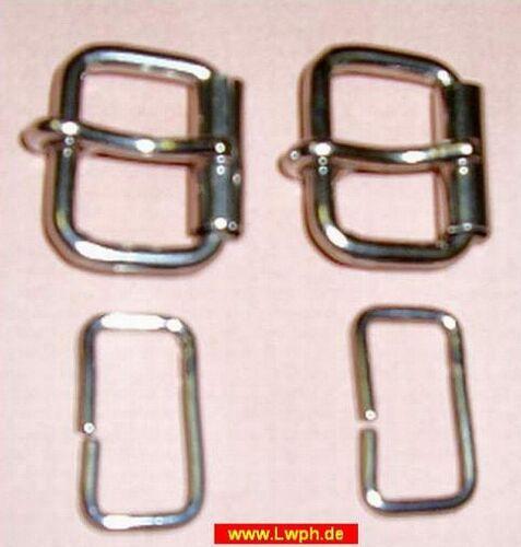 10 rollschnallen nickelée 1,6 cm avec boucle de fil pour courroie sm ceintures Bandes