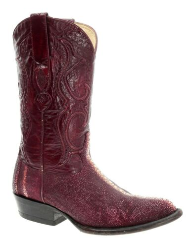 LOS ALTOS Cowboy Boots 6 EE Stingray RED Leather V