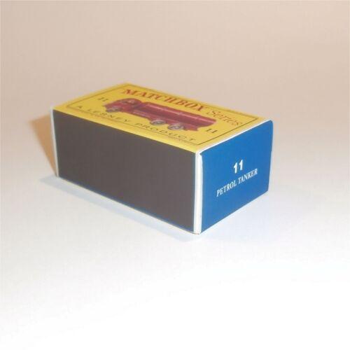 Matchbox Lesney 11 b ERF Tanker empty Repro D style Box