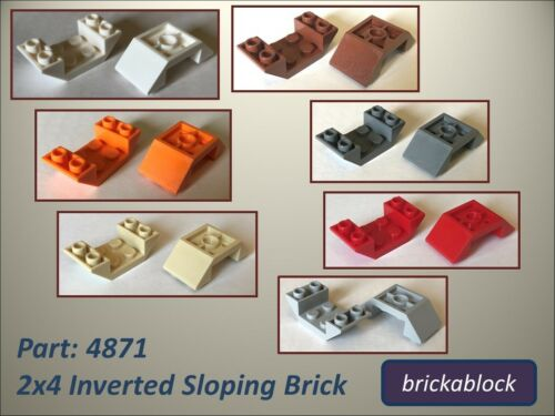 NEW Lego Part 4871 2x4 Inverted Sloped Brick Choose 2,5,10,15 or 25