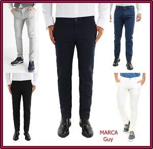 19a0821246 Pantaloni da uomo slim fit estivi in cotone elasticizzati casual 46 ...