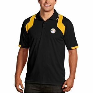 aeccb371e Image is loading Pittsburgh-Steelers-Antigua -Embroidered-Xtra-Lite-Black-Fusion-