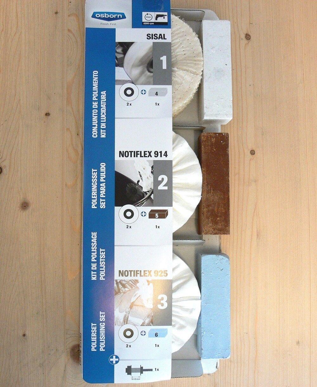 Polishing Set 10-teilig,Towel Rings + Paste,for Steel,VA,ne Metals,Aluminium