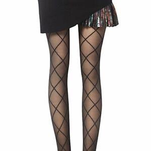 Damenmode Kleidung & Accessoires Hart Arbeitend Vintage Large Diamond Mesh Pantyhose Fashion Women Stockings Pantyhose0s NüTzlich FüR äTherisches Medulla