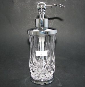New Hotel Balfour Clear Glass Diamond Crystal Silver Pump