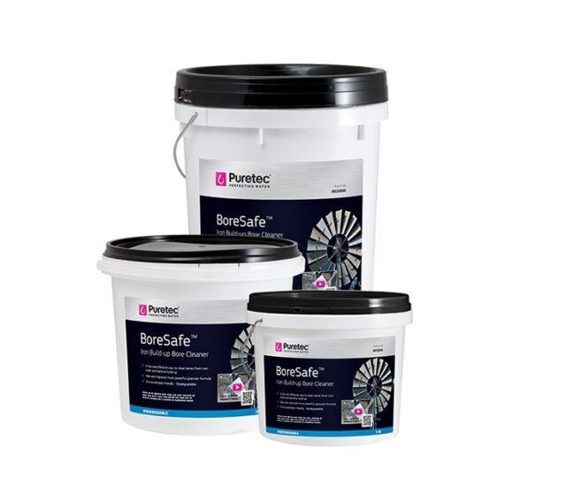 Puretec BoreSafe - Iron Build-up Bore Cleaner 20kG + 30ml Test Kit (BE20000)