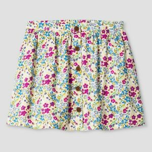 Buy Cheap Baby Girls' Almond Cream Floral A Line Skirt Genuine Kids From Oshkosh Skirts 12m 18m Skillful Manufacture