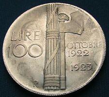 100 Lire 1922 / 1923 Silber Silver Argento / BB / SS / VF / TTB / MBC