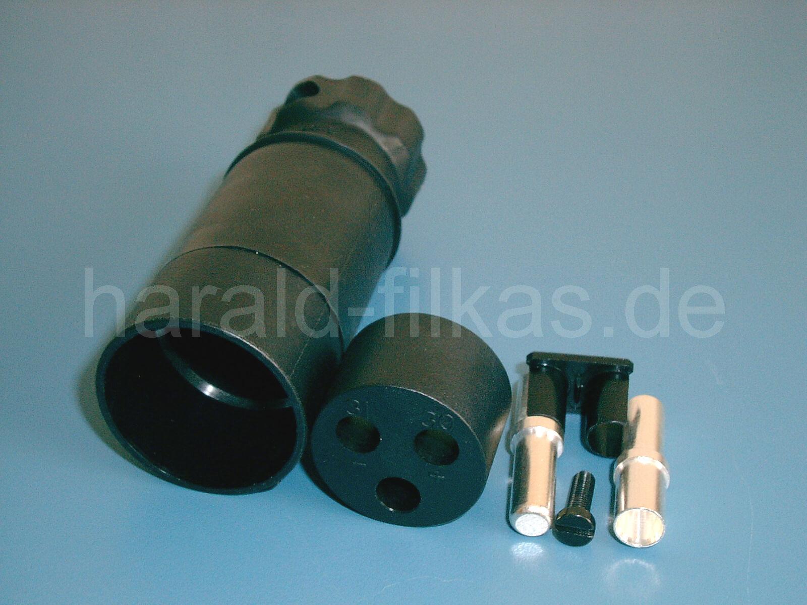 Nato-Stecker Kunststoff 50mm² in Anlehnung an VG 96917 Schweinenase bis 42V 300A