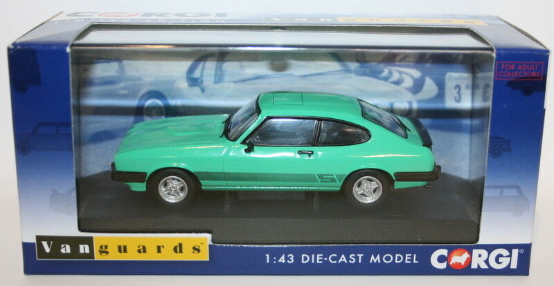Vanguards 1 43 Scale VA10815B - Ford Capri Mk3 3.0S - Mint Green