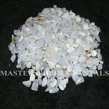 2000 x Blue Lace Agate Tumblestones Mini Chip Crystal 3mm-5mm Gemstone Wholesale