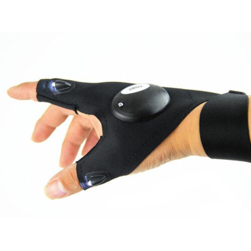 LED Light Flashlight Gloves Outdoor Gear Rescue Night Fishing UK Finger Glove