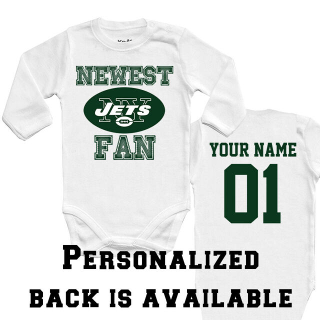 NFL New York Jets Personalised BabyGrow One Piece Bodysuit Vest Football