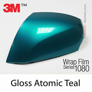 100x152cm film gloss atomic teal 3m 1080 g356 vinyle covering series wrapping ebay. Black Bedroom Furniture Sets. Home Design Ideas